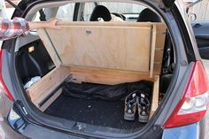 Turning my Fit into a mobile camper! - Page 2 - Unofficial Honda FIT Forums Auto Camping, Minivan Camping, Camping Diy, Camping Hacks, Camping Gear, Backpacking, Camping Kitchen, Camping Gadgets, Camping Cooking