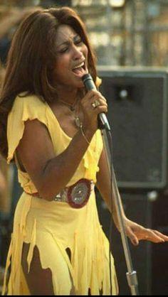 Tina Turner Costume, Woodstock, Black Female Singers, Ike And Tina Turner, Stevie Wonder, Soul Music, African American Women, Women In History, Beautiful Black Women