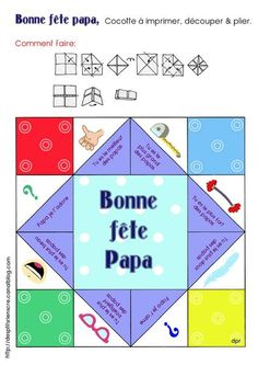 Un pouet pouet pour papa - Nadine Stacoffe - Pint French Teaching Resources, Teaching French, Fathers Day Crafts, Happy Fathers Day, Diy For Kids, Crafts For Kids, Cadeau Parents, Mother And Father, Printable Paper