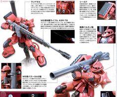 Char Aznable`s Custom Zaku II (THE ORIGIN) (HG) (Gundam Model Kits) About item2