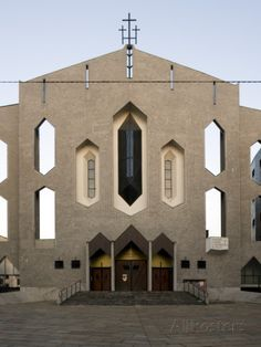 San Francesco Al Fopponino Church, Via Paolo Giovio 31, Milan, (1961-1964) Architect: Gio Ponti Stretched Canvas Print