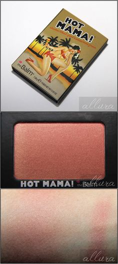 """theBalm Hot Mama Blush/Shadow ($10 @ HauteLook.com, retail $20) :: Smooth w/o being having an overly soft formula. Not powdery at all! Similar to NARS Orgasm, but Hot Mama is """"much silkier in formula & has better pigmentation""""! It also has finely milled golden shimmers that do show up when applied (& it does so smoothly & evenly with the shimmers staying put on the skin). CLICK to check out the whole review from #AlluraBeauty 