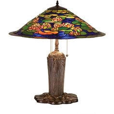 25 Inch H Tiffany Pond Lily Table Lamp