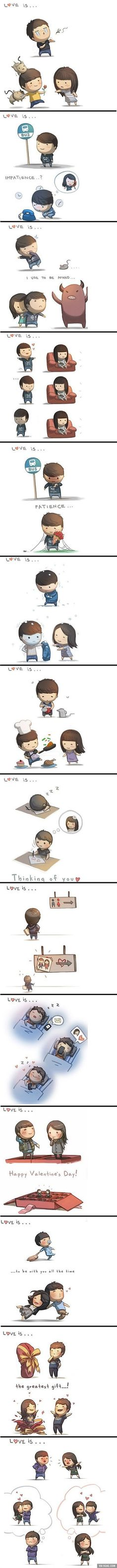 Love is... from HJ story (the artist draws these for his wife)