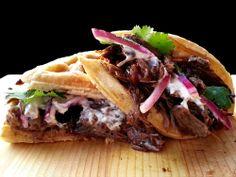 Slow Roasted Balsamic Beef Waffle Sandwich