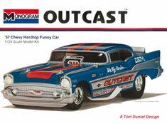 Monogram Outcast 57 Chevy funny car