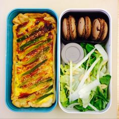 Quiche, salad and Macarons. My kind of lunch