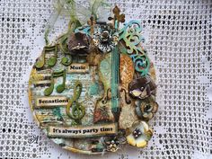 """Mixmedia canvas """"It's always party Time"""" Mixed Media Art, Mix Media, Always Be, Special Guest, How To Introduce Yourself, Party Time, Stencil, Scrapbook, Canvas"""