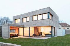 Dieses moderne Einfamilienhaus beweist, dass der Bauhausstil…