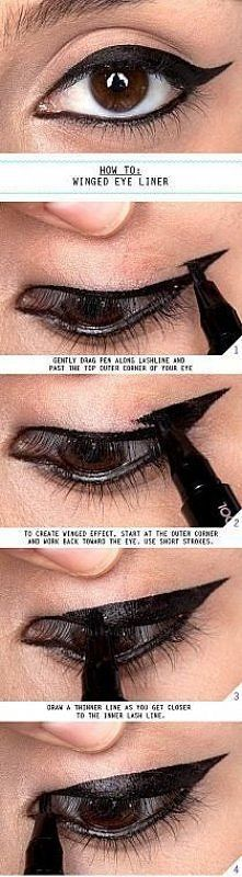 how to: winged eye liner