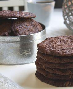 Cookies med sjokolade og notter