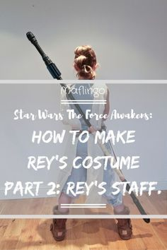 How to make Rey's Staff from Star Wars the Force Awakens on a budget. I used plumbing supplies, cardboard, telephone cable and spray paint.