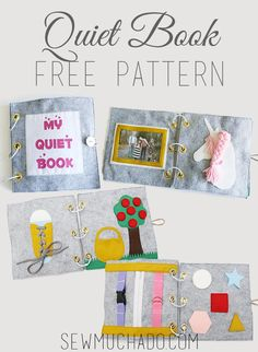 Use this Free Quiet Book Pattern to sew an adorable activity book that is sure to keep the little fingers in your life busy and happy!