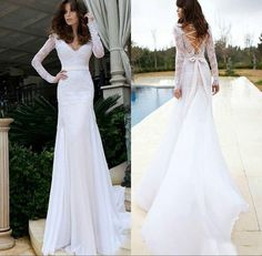 petite wedding dresses deserves your buy. Like  Long Sleeves V Neck Trumpet Mermaid Wedding Dresses Top Lace White Appliques Beads Chiffon Corset Lace UP Bodice Fall Bridal Gowns, such a wonderful dress, pink wedding dresses and royal wedding dresses will not disappoint you, too. Trustvictoriadress and take action now…