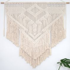 Macrame Wall Hanging 'Thunder' by PrettyKooky on Etsy