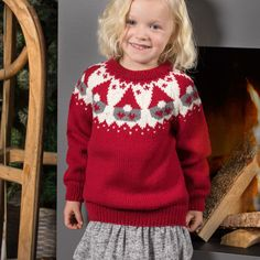 LG18-57 Nisseungens julegenser   Linde Garn Knitting Patterns, Crochet Patterns, Mini Stockings, Different Textures, Baby Cardigan, Ravelry, Christmas Sweaters, Winter Outfits, Ivy