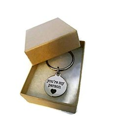 """""""You're My Person"""" key chain- cute gift - - Men's Accessories, Keyrings & Keychains # Cute Boyfriend Gifts, Perfect Gift For Girlfriend, Cute Gifts For Friends, Gifts For Teens, Car Key Holder, Valentine's Day, Youre My Person, Thing 1, Valentines Gifts For Her"""
