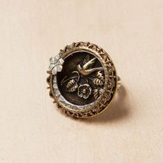 Mixed Metals Bird Ring