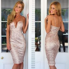 2015-Summer-Sexy-Deep-V-Halter-Black-Gold-Sparking-Sequins-Bodycon-Dressed-Sheath-Dress-Midi-Party.jpg (500×500)