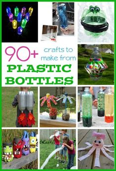90+ Plastic Bottle Crafts for Kids - Fun Family Crafts