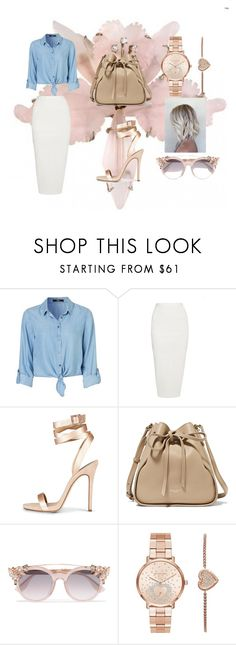 """Untitled #15"" by lineocarol on Polyvore featuring Rick Owens, Nina Ricci, Jimmy Choo and Michael Kors"