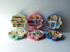 Polly Pocket Toys Set of 3 - Fifi's Parisian Apartment, Midge's Flower Shop, Buttons' Animal Hospital Vintage 80's - 90's on Etsy, $31.26