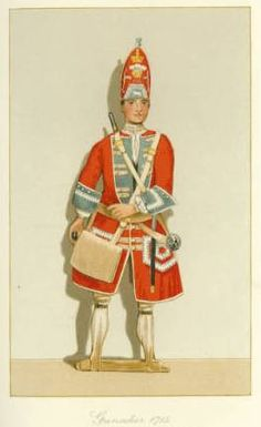 Pictureboard Dummy from County Hotel Carlisle.   Grenadier, Princess of Wales Royal Regiment (later the Queens Royal Regiment) circa 1715