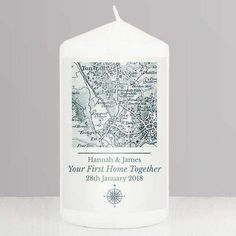 This Personalised Old Series 1805 - 1874 Map Message Pillar Candle is the perfect giftfor Wedding Gifts, Anniversary Gifts, Engagement Gifts, Mother's Day, Father's Day, New Home Gift, Retirement Gift, Birthday Gift, Valentine's Day.Personalise this 1805 - 1874 Old Series Map Candle with any UK postcode* and a message