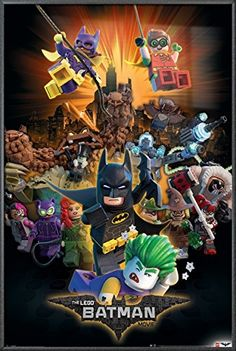 The LEGO Batman Movie  Framed Movie Poster  Print Boom  Characters Size 24 x 36 ** To view further for this item, visit the image link.Note:It is affiliate link to Amazon.