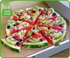Lekkere fruit pizza om kinderen toch fruit te laten eten door vsm kind. Let kids eat a fruit pizza.