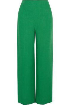 Cropped linen wide-leg pants #widelegpants #covetme #isaarfen Love these the colour is amazing summer trousers!