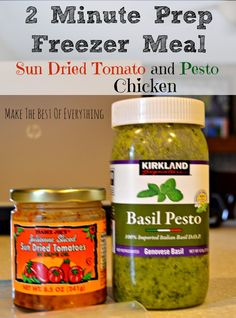 & Sun Dried Tomato Slow Cooker Chicken Sun Dried tomato and Pesto Slow Cooker Chicken- Make The Best of EverythingSun Dried tomato and Pesto Slow Cooker Chicken- Make The Best of Everything Crock Pot Slow Cooker, Slow Cooker Chicken, Freezer Chicken, Tomato Pesto Chicken, Freezer Cooking, Costco Freezer Meals, Make Ahead Meals, Cooker Recipes, Chicken