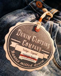 Hantex Milled denim #hangtag