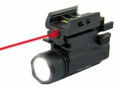 Tacfire 180 Lumen Cree Led Rifle/Pistol Flashlight/Red Laser Combo Flp180: FLC1
