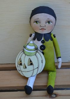 Hand Painted Halloween Original White by CartBeforeTheHorse