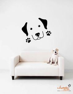 Cute Labrador Wall Decal