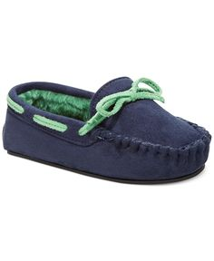 Stride Rite Little Boys' or Toddler Boys' Colorblock Moccasin Slippers