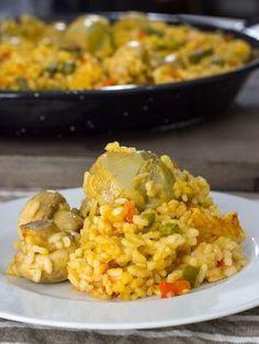 Paella de verduras (Delantal de Alces)