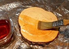 Preserving wood slices with Pentacryl 10