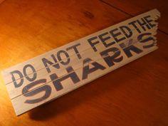 DO NOT FEED THE SHARKS Tropical Beach Surfing Surfer Island Tiki Bar Decor Sign | eBay