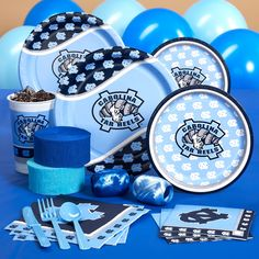 unc tar heels birthday party supplies