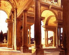 John Singer Sargent, A Study of Architecture, Florence