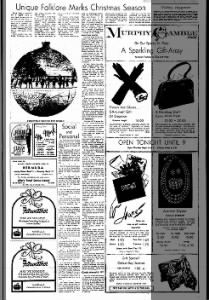 "Unique Folklore Marks Christmas Season"" - Ottawa Journal - 1965"