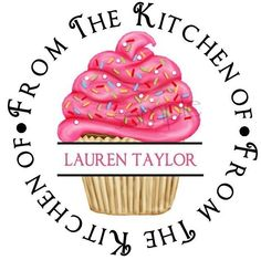Cupcake stickers, Personalize Stickers, Cupcake FUN, Cupcakes, baking, Cooking, Kitchen, Labels,  Favor, Hostess, Housewarming, set of 12. $5.95, via Etsy.