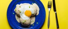 Surrounded with sausage gravy, topped with a fried egg and accompanied by vibrant green scallions, Johanna Ware's breakfast bao is a soft, silken respite f