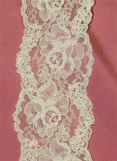 P1545 Ivory Alencon Lace Trim - Bridal Fabric by the Yard