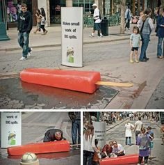 These are the 80 best guerilla marketing examples / ideas I have ever seen. If you are looking for Gorilla, Guerilla, Guerrilla Marketing Examples, you found it Guerilla Marketing Examples, Guerrilla Advertising, Clever Advertising, Experiential Marketing, Advertising Design, Marketing And Advertising, Digital Marketing, Advertising Campaign, Email Marketing Strategy