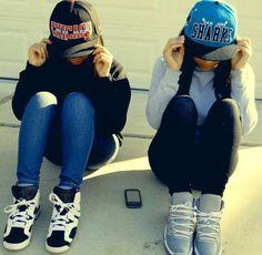 Girls that wear Snapbacks & Hightops