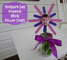 Mothers Day Popsicle Stick Flower Craft