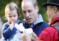 Princess Charlotte of Cambridge and Prince William, Duke of Cambridge at a children's party for Military families during the Royal Tour of Canada on September 29, 2016 in Victoria, Canada. Prince William, Duke of Cambridge, Catherine, Duchess of Cambridge, Prince George and Princess Charlotte are visiting Canada as part of an eight day visit to the country taking in areas such as Bella Bella, Whitehorse and Kelowna